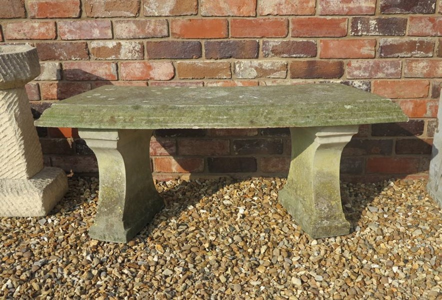 Primary Image - Vintage Curved 2 Seater Garden Bench