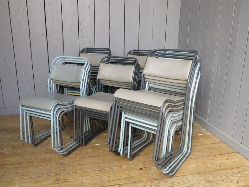 Primary Image - Set of 37 Tubular Vinyl Covered Stacking Chairs