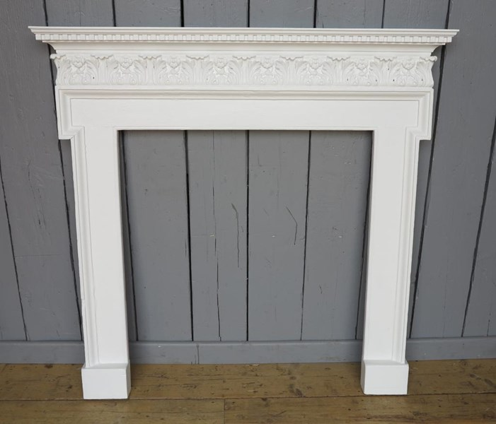 Primary Image - Original Georgian Wooden Painted Fire Surround