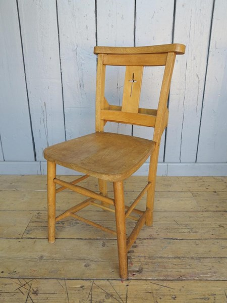 Primary Image - Antique Church Chairs With Book Holders