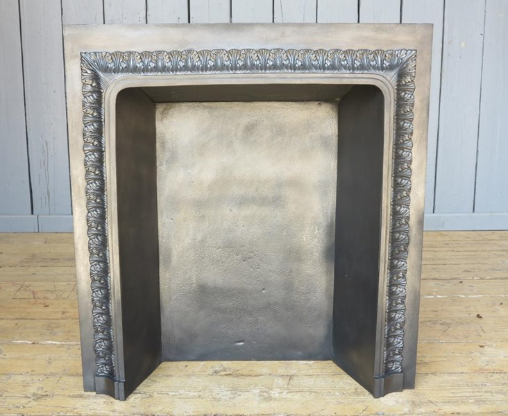 Antique Regency Cast Iron Fire Back