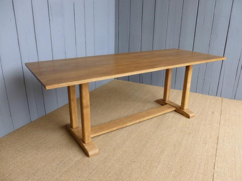 Solid Oak Antique Refectory Dining Table