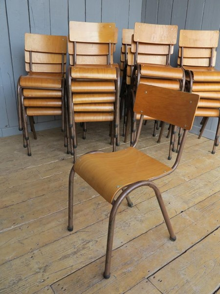 Primary Image - Tubular Steel Stacking Chairs - with rear book holders