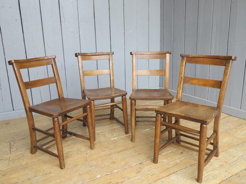 Primary Image - Set of 4 Reclaimed Church Chairs