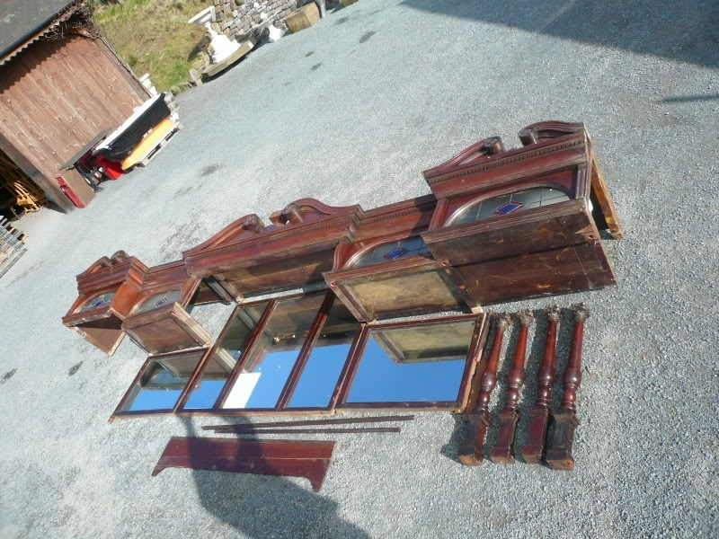 Original Edwardian Solid Mahogany Mirrored Bar Back 4.9m Long