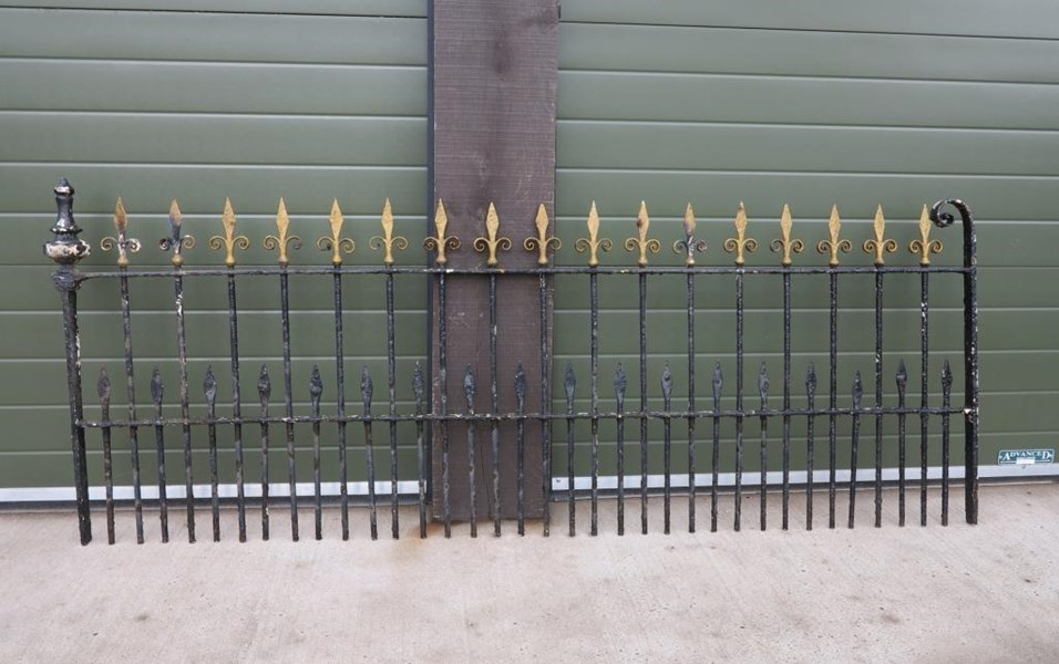 Primary Image - 8 Sections of Victorian Wrought Iron Railings