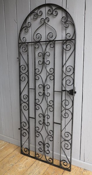 Primary Image - Vintage Wrought Iron Arched Top Pedestrian Gate