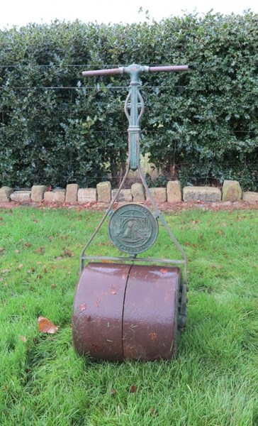 Primary Image - Antique Cast & Wrought Iron Garden Lawn Roller