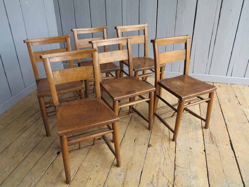 Primary Image - Set of 6 Church Chairs Without Bible Backs