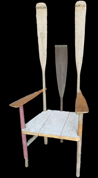 Primary Image - Unusual Rowing Theme Vintage Chair