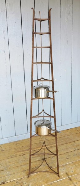 Primary Image - Large Free Standing Wrought Iron Pan Stand - Rack