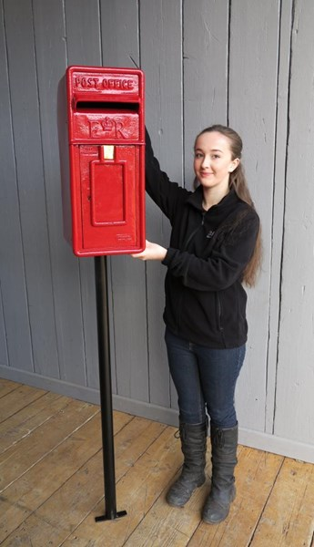 Primary Image - Original Red Arch Back Post Box With Stand