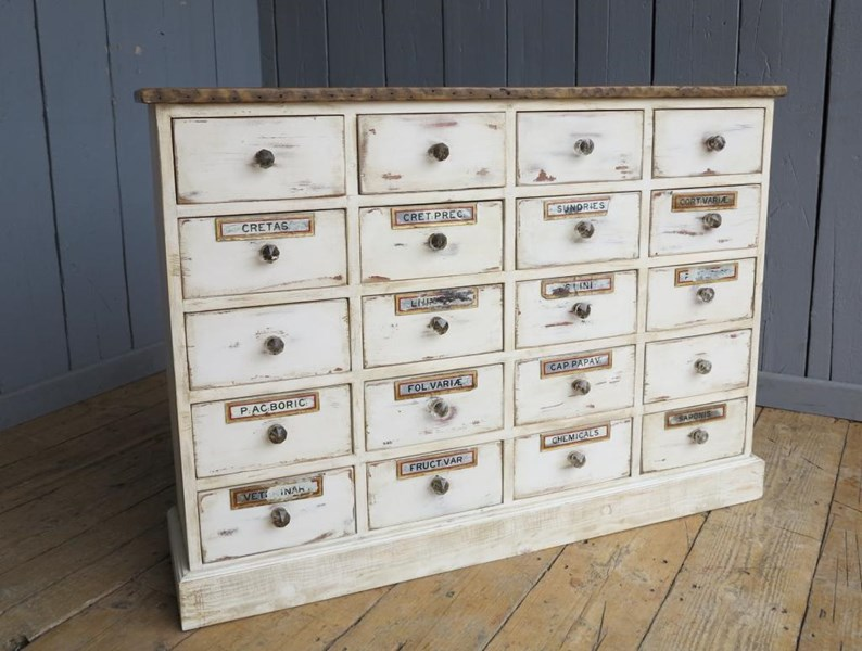 Primary Image - Shabby Chic Apothecary Cabinet With 20 Drawers