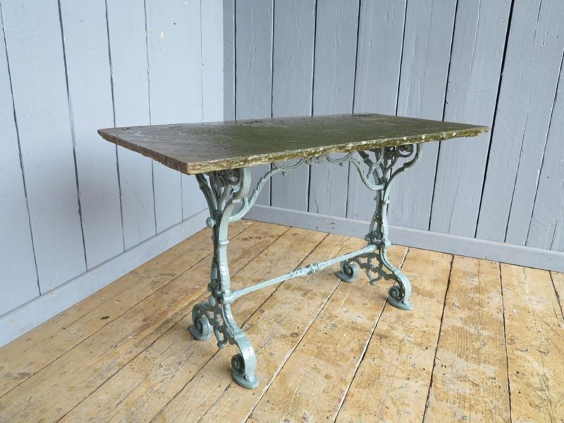 Primary Image - Reclaimed Antique Stone Topped Cast Iron Garden Table