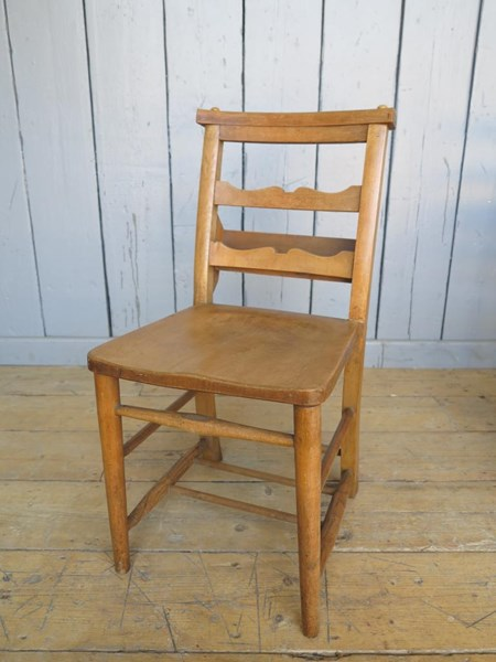 Antique Church Chairs with Lovely Back Rail Detail