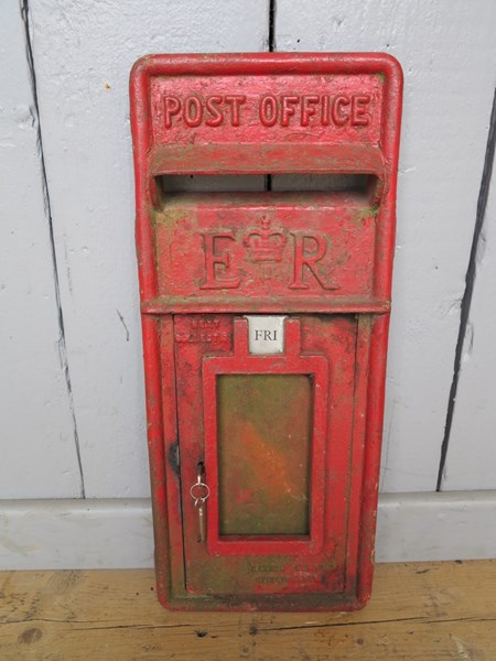 Post Office Red Royal Mail ER Post Box Front