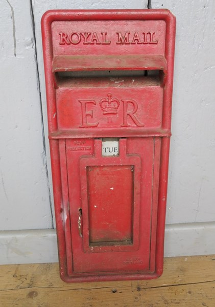 Royal Mail Red Post Office ER Post Box Front