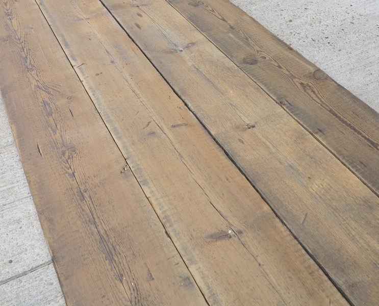 Re Sawn Antique Pine Reclaimed 8 inch wide Floorboards