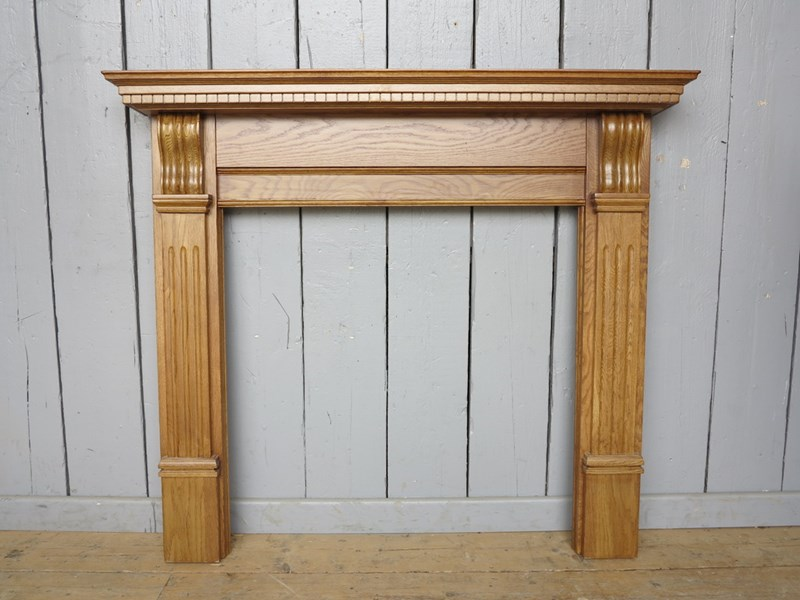 Corbel Waxed Solid Oak Fireplace Surround