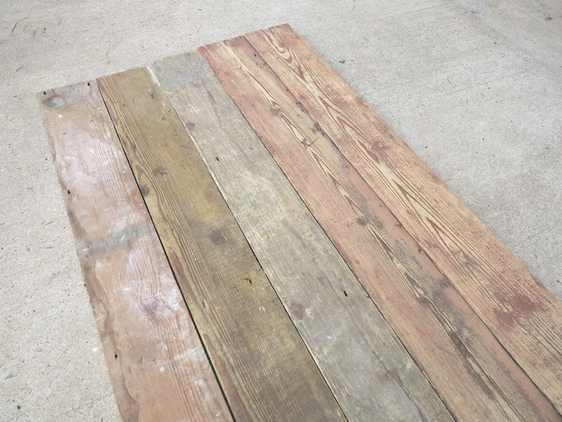 Pine Square Edged Antique Reclaimed Floorboards
