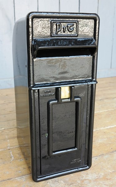 Black Painted Original Irish Arch Back Post Box