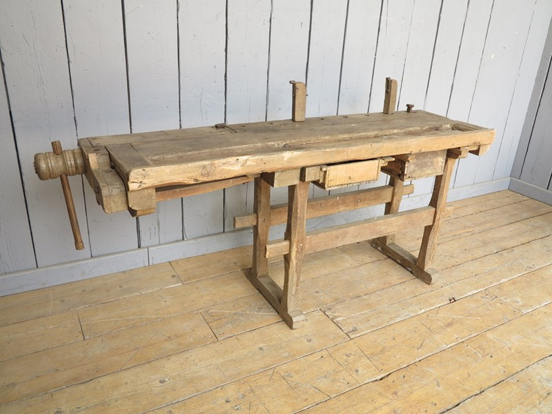 Reclaimed Antique Workbench suitable for a Kitchen Side Table