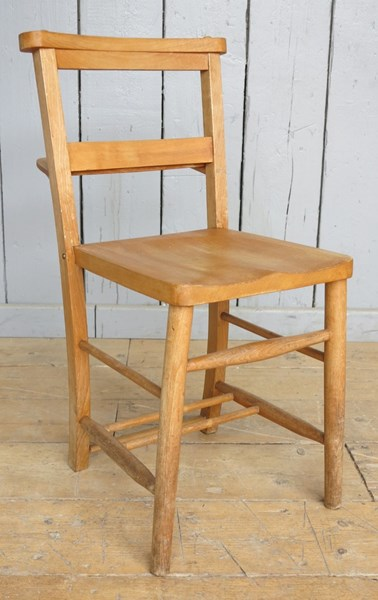 Antique Church Chairs with Book Holders