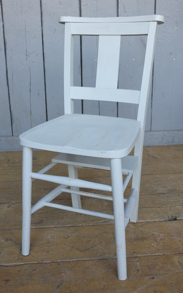 Hand Painted Distressed Church Chairs