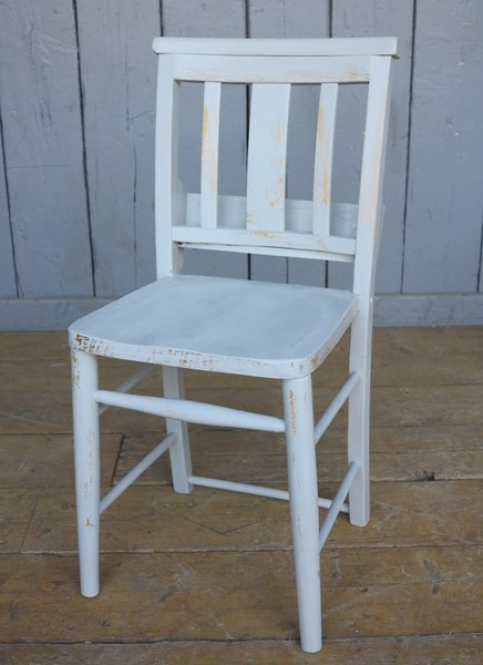Hand Painted Distressed Kitchen Church Chairs