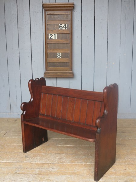 Antique Church Pitch Pine Church Pew