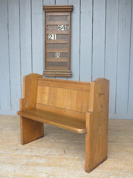 Reclaimed Antique Church Solid Oak Pew