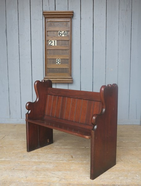 Reclaimed Antique Church Pitch Pine Pew