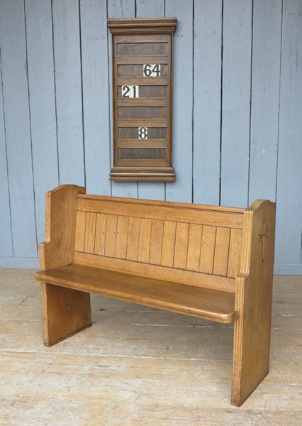 Reclaimed Antique Church Oak Pew