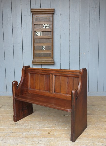 Reclaimed Church Pitch Pine Antique Pew