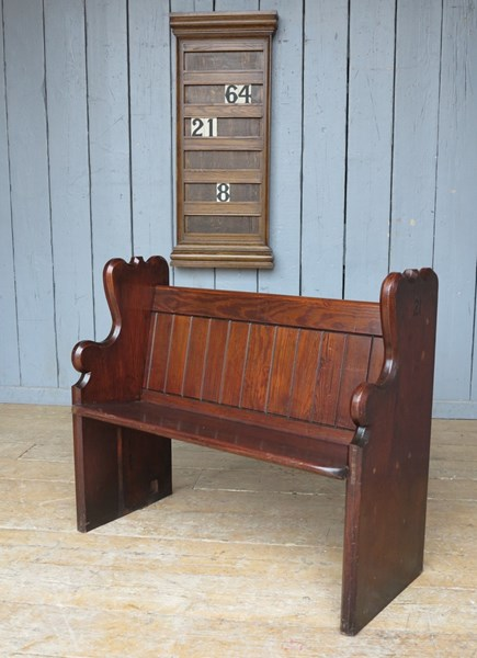 Pitch Pine Church Antique Pew
