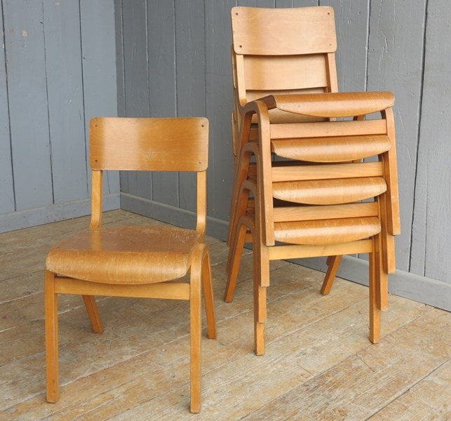 Vintage Reclaimed Stacking Chairs