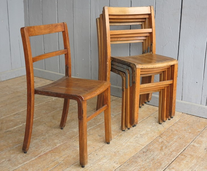 Wooden & Iron Reclaimed Stacking Chairs