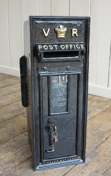 Royal Mail Cast Iron Victoria Wall Mounted Post Box