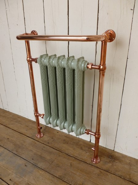 Carron Wilsford Bathroom Copper Frame Towel Rail