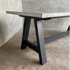 A Frame Distressed Zinc Table