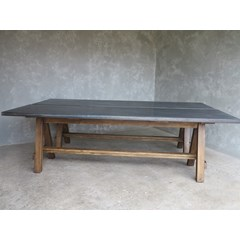 A Frame Table With Zinc Top