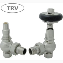 Amberley Radiator Valves - Satin Nickel Finish