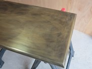 Antique Brass Worktop with Bullnose Edge Made at UKAA