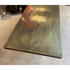 Antique Brass Worktops With Rounded Corners