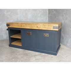 Antique Butchers Block With Bespoke Base