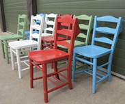 Antique Church Chairs Painted at UKAA in Your Colour