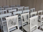 Antique Church Chapel Chairs Painted