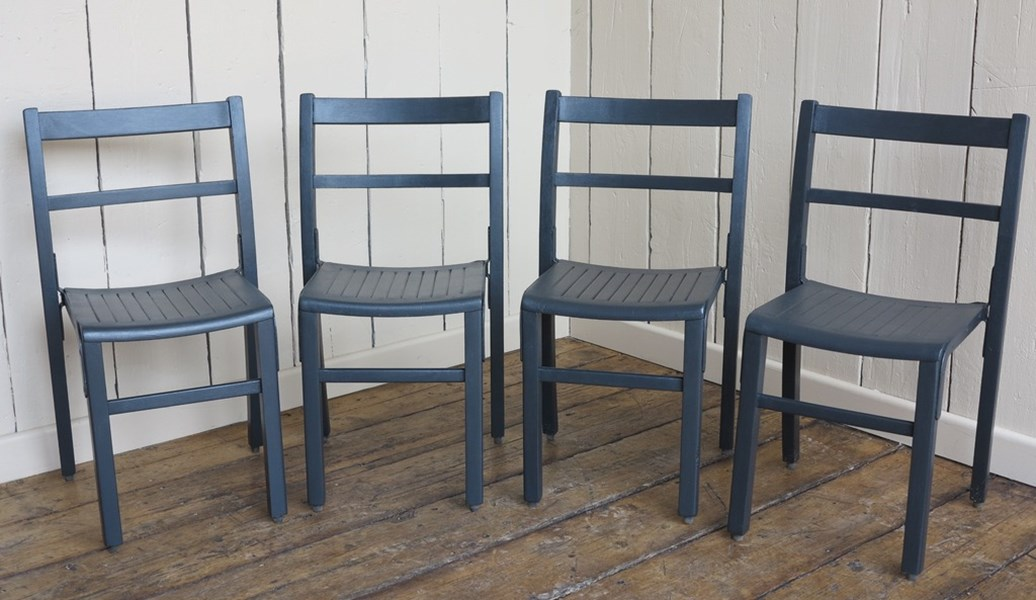 Antique Church Stacking Chairs Hand Painted