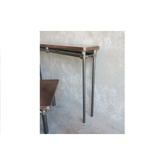 Antique Copper Console Table With Metal Legs