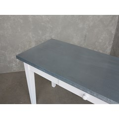 Antique Distressed Finish Zinc Table